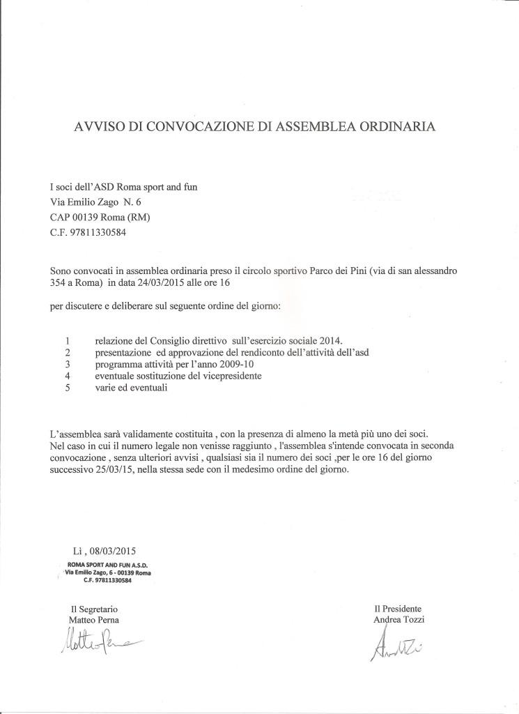 convocazione assemblea ordinaria 001